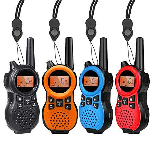 特定小電力トランシーバー 4台セット TRH 866 USB充電式多機能省電力小型無線機 免許・資格不要 コンパクト設計 1対多交信可能です 親子アクティビティ、子供用、屋外での使用