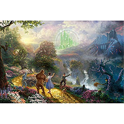 5D Wizard of Oz Diamond Painting DIY Embroidery Cross Stitch Craft Decoration Handmade Gift(15.8x19.7inch)
