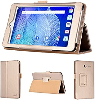 wisers 2016 ALCATEL ONETOUCH POP 7 LTE 7-inch Tablet case/Cover, Gold