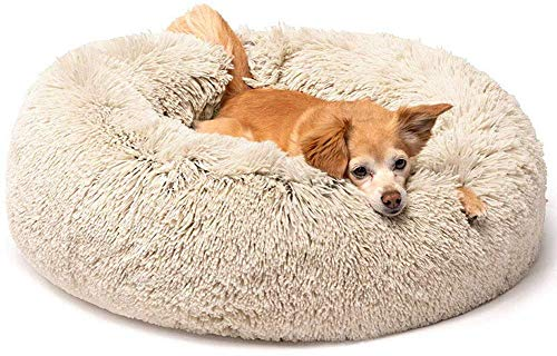 con ciambella super morbido per gatti cuscino rotondo auto-riscaldante Cuccia per cani di grandi dimensioni ZINN fondo antiscivolo