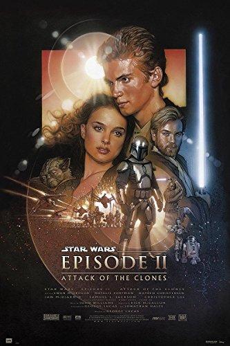 Póster Star Wars Episode II 'Attack of the Clones/ El ataque de los clones' (61cm x 91,5cm) + 1 póster sorpresa de regalo
