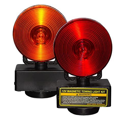 LifeSupplyUSA 12v Magnetic Trailer Tow Light Kit for Auto, Boat, RV, Trailer