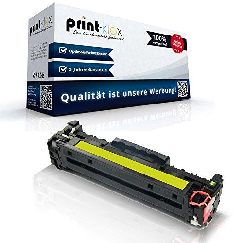 Print-Klex Kompatible Tonerkartusche für HP Color LaserJet CM2320EI MFP Color LaserJet CM2320FXI MFP Color LaserJet CM2320N MFP CC532 A Gelb Yellow