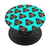It's Poopy Funny Smiling Poop Emoji Pattern/Blue