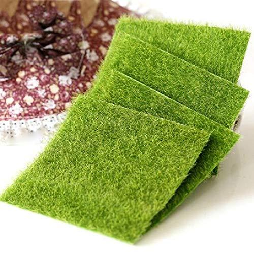 Bodhi2000 4 pcs miniature Emulation Vert pelouse Décoration Décor extérieur