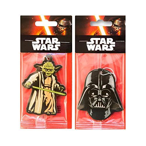 Star Wars Auto-Lufterfrischer, 2er Pack –Darth Vader + Yoda, offizielles Disney-Produkt
