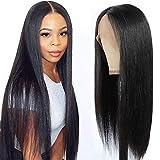 Echthaar perrücke schwarz frauen straight wig lace front wig human hair perücke lang glatt wigs...