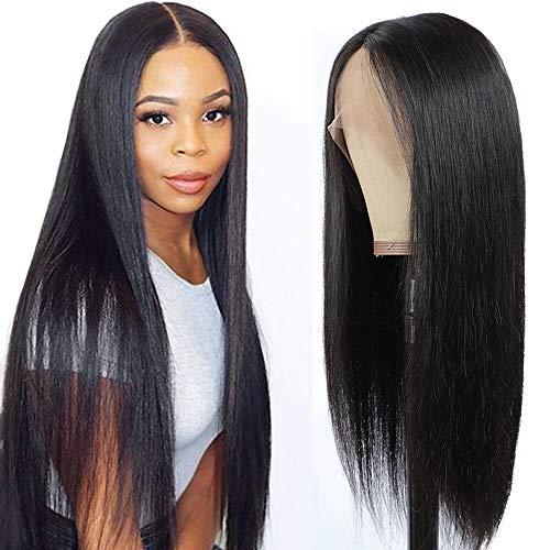 """Perruque Femme Naturelle Perruque Bresilienne Lisse Perruque Cheveux Humain Perruque Lace Front Cheveux Naturels Noir Nature 16""""(40cm)"""
