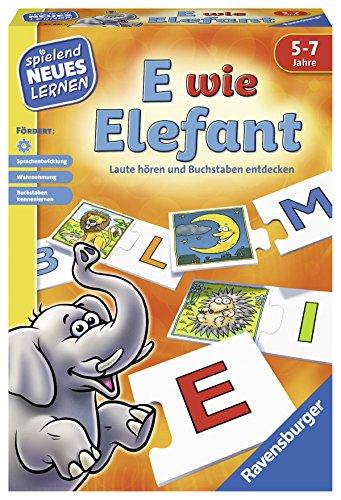 Ravensburger 24951 - E wie Elefant - Spielen und Lernen für Kinder, Lernspiel für Kinder von 5-7 Jahren, Spielend Neues Lernen für 1-4 Spieler