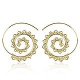 SODIAL Boucles D'oreilles Spirale en forme de Coeur de Vintage a la Mode...