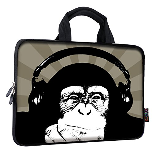 iColor 9.7 10 10.1 10.2 inch Neoprene Tablet Bag Carring Case Sleeve Cover with Handle for 10 Tablet Case Laptops/Notebook/ebooks/Kids Tablet/Apple ipad Chimpanzee ICB10-9