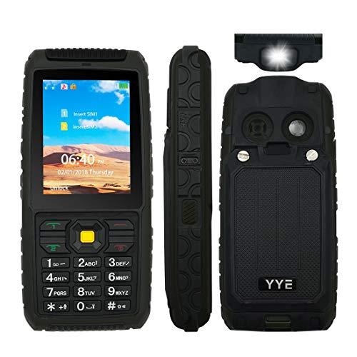 Unlocked Rugged Phone,Waterproof IP68,Lightweight,High Flashlight,GSM Quad Band (850/900/1800/1900Mhz)-Black