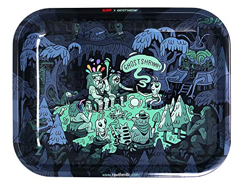 RAW Artist Series: GHOST SHRIMP Metal Rolling Tray - Large 14