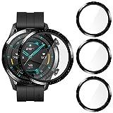 CAVN Pellicola Protettiva Compatibile con Huawei Watch GT 2 46mm Pellicola Schermo [3-Pezzi], Pellicola Impermeabile Antisfondamento Impermeabile Antisfondamento