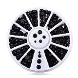 Artlalic 3D-Nagel-Schmuck, Strass, schwarze Schmuckstein-Form , für selbstgemachte Nailart,...