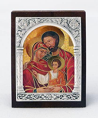 Icone met frame decoratie om te zetten heilige familie ca. 6 5x5cm