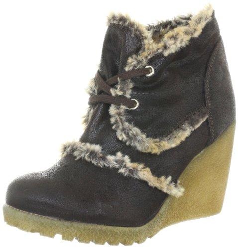 Comma COSasha 1236-5261, Damen Fashion Halbstiefel & Stiefeletten, Braun (Dunkelbraun 300), EU 39