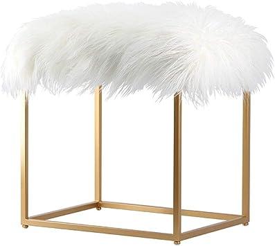 Amazon Com Vanity Stool Makeup Stool Stool Chair Fuzzy Vanity Stools For Bedroom Vanity Stools For Bathroom Vanity Chairs And Stools Vanity Benches Color Gold Size 364449cm Home Kitchen