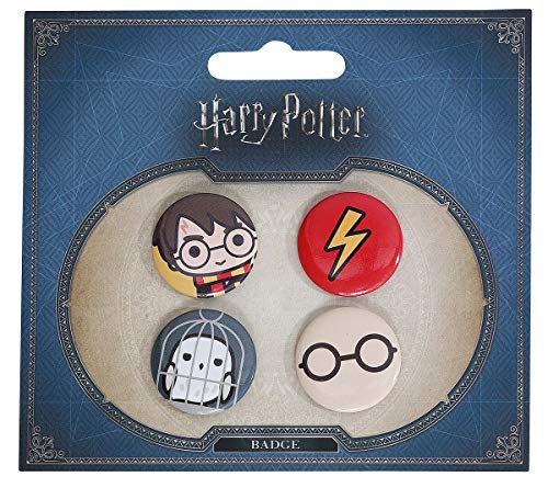 Set 4 pin Harry Potter assortito