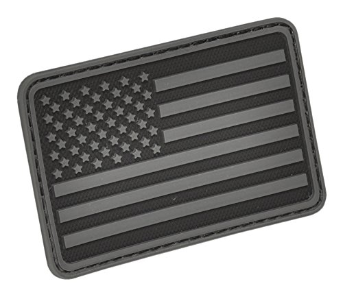 USA Flag (Left Arm) Rubber Patch by Hazard 4(R) - Black