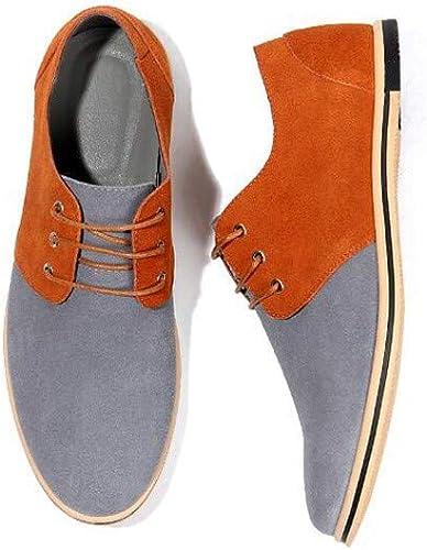 Jiang-ZX Herren Schuhe, Freizeitschuhe, Wildleder, Größe L, farblich passende Herren, Orange, 50