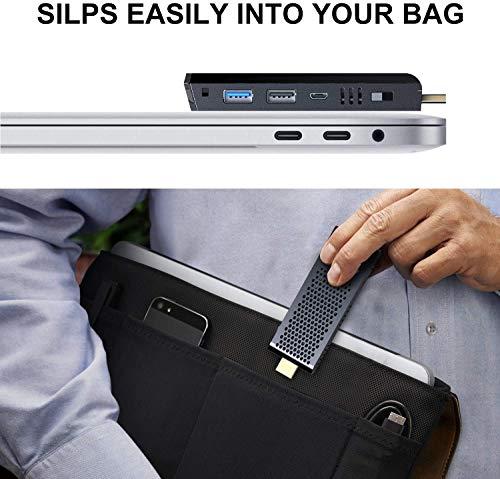 Lüfterloser Mini PC Stick, Intel Atom Z8350 Stick Computer Windows 10 Pro (64-Bit), 4GB DDR/ 64GB eMMC, 4K HD, Dual Band WLAN AC, USB 3.0, Bluetooth 4.2