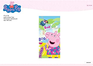 NEW IMPORT, Toalla Playa Micro NIÑA Peppa Pig 760, 70X140 cm