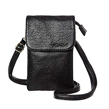 MINICAT Roomy Pockets Series Small Crossbody Bags Cell Phone Purse Wallet for Women Black