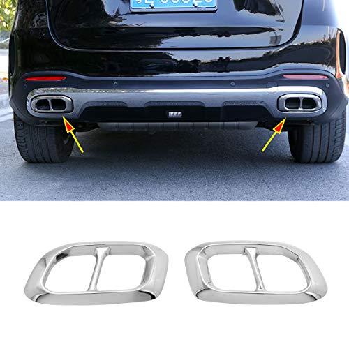 Preisvergleich Produktbild YIWANG Edelstahl Exterior Zubehör Auspuff Endrohr Dekoration Rahmen Abdeckung Blenden Für Benz GLE GLC GLS W167 X253 X167 2019 2020 Auto Zubehör (Silve)