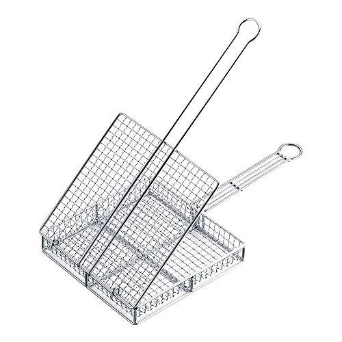 遠藤商事 焼網 業務用 蓋付き 地鶏焼き網 大 18-8ステンレス 日本製 DYK7801