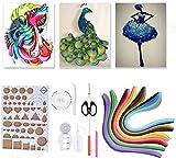 14 STÜCKE Hankwerk Papierstreifen Set, Papier Handwerk DIY Kits mit 6 Farben Handwerk Streifen...
