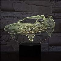 Luces de Regreso al Futuro, novelas de vehículos orientadas a los fanáticos, Ambiente básico Brillante, luz Nocturna de Venta Directa