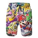 Hkdfjg Super Mario Game - Pantalones cortos de natación para hombre, estilo informal, para surf, playa, verano, vacaciones, gimnasio, correr, correr