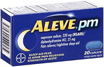 Aleve PM Pain Relief, Nighttime Sleep-Aid (Pack of 2)