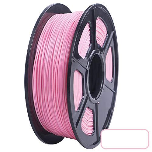 3D Printer PLA Filament 1.75mm Filament Dimensional Accuracy +/-0.02mm 2.2LBS 3D Printing Material for RepRap(pink)