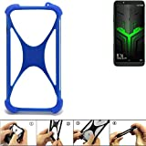 K-S-Trade® Handyhülle Für Xiaomi Blackshark Helo Silikon Schutz Hülle Cover Case Bumper Silikoncase TPU Softcase Schutzhülle Smartphone Stoßschutz, Blau (1x),