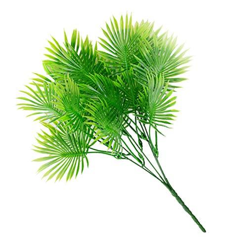 Xinjieda Gefälschte Blätter Sago Cycas Kunststoff-Blätter 5 AST Künstliche Pflanzen Home Decoration