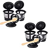 6 Pack Coffee Filters with For Reusable Coffee and Coffee Spoon,Reusable K Fits Keurig 1.0 and 2.0