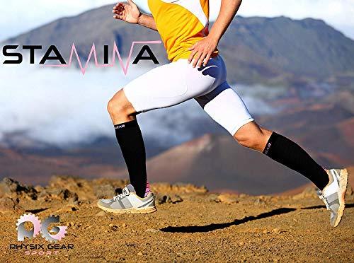 Physix Gear Compression Socks for Men & Women 20-30 mmhg, Best Graduated Athletic Fit for Running Nurses Shin Splints Flight Travel & Maternity Pregnancy - Boost Stamina Circulation & Recovery PNK S/M