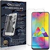 OnScreen Schutzfolie Panzerglas kompatibel mit Samsung Galaxy M20 Panzer-Glas-Folie = biegsames HYBRIDGLAS, Bildschirmschutzfolie, splitterfrei, MATT, Anti-Reflex - entspiegelnd