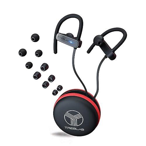 6890dd84975 TREBLAB XR800 - Premium Sports Bluetooth Earbuds - IPX7 Waterproof  Secure-Fit Ear Buds for