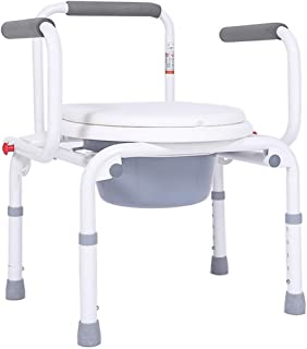 LZLYER Shower Chair Toilet Bathtub Portable Adjustable Height Elderly Homecare Potty Chair Handicapped Multifunctional Bedside Commode Seat Chair for Grandparents Pregnant Woman Patient