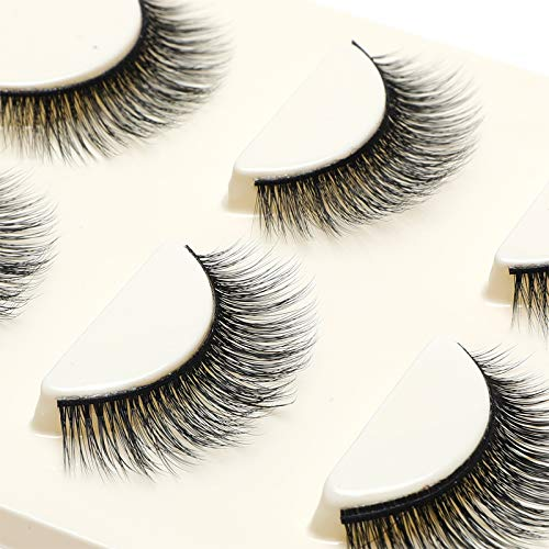 3 Paar lange Kreuz falsche Wimpern Make-up nat�rliche 3D gef�lschte dicke schwarze Augenpeitschen