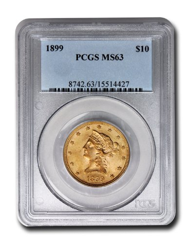 1899 Liberty Head Ten Dollar PCGS MS-63