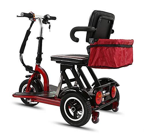 Miarui Elektrische mobiel voor senioren met 3 wielen, seniorenmobiel, 350 W, 20 km/u, loopvermogen 30 – 55 km, drie-versnellingsschakeling, geschikt voor ouderen, gehandicapten.
