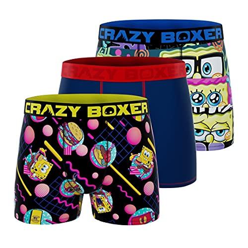 Men's Boxer Briefs - Spongebob - PACK 3 HEAT + EPON