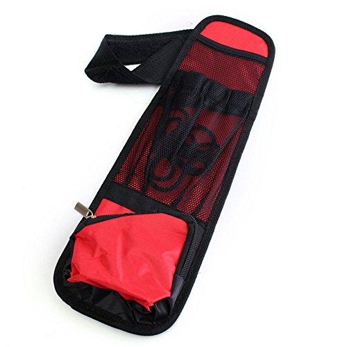 AAlamor Autostoel Zijkant Terug Opslag Voertuig Multi Pocket Houder Organizer String Bar Rood