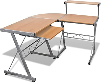 eSituro Scrivania Ufficio Tavolo da Studio Piccolo Porta PC Postazioni di Lavoro per Computer con Stile Moderno SCD0089