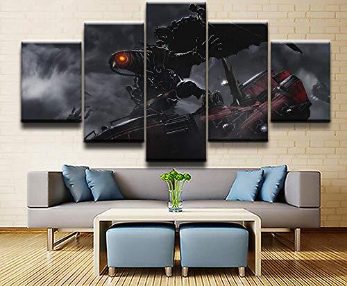 YOPLLL Leinwandbild 5 TLG Kunstdruck Wandbilder XXL Wanddekoration Design 5 Stücke Leinwand Moderne Wandkunst Plakatrahmen Wohnzimmer Dekoration Wandbild Bioshock Infinite Game(Gerahmt)
