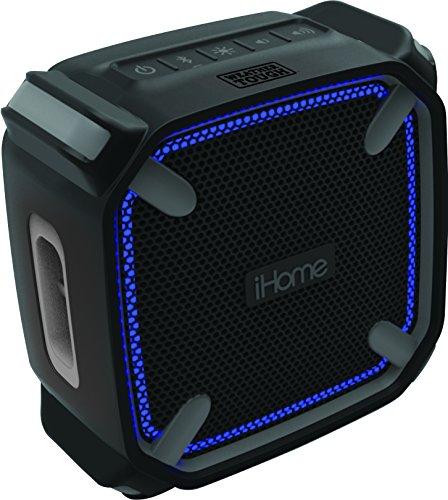 iHome iBT371 Outdoor Bluetooth Lautsprecher mit Freisprechfunktion; stoßfest & spritzwassergeschützt